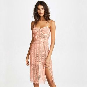 For Love And Lemons Dakota Lace Midi Dress S